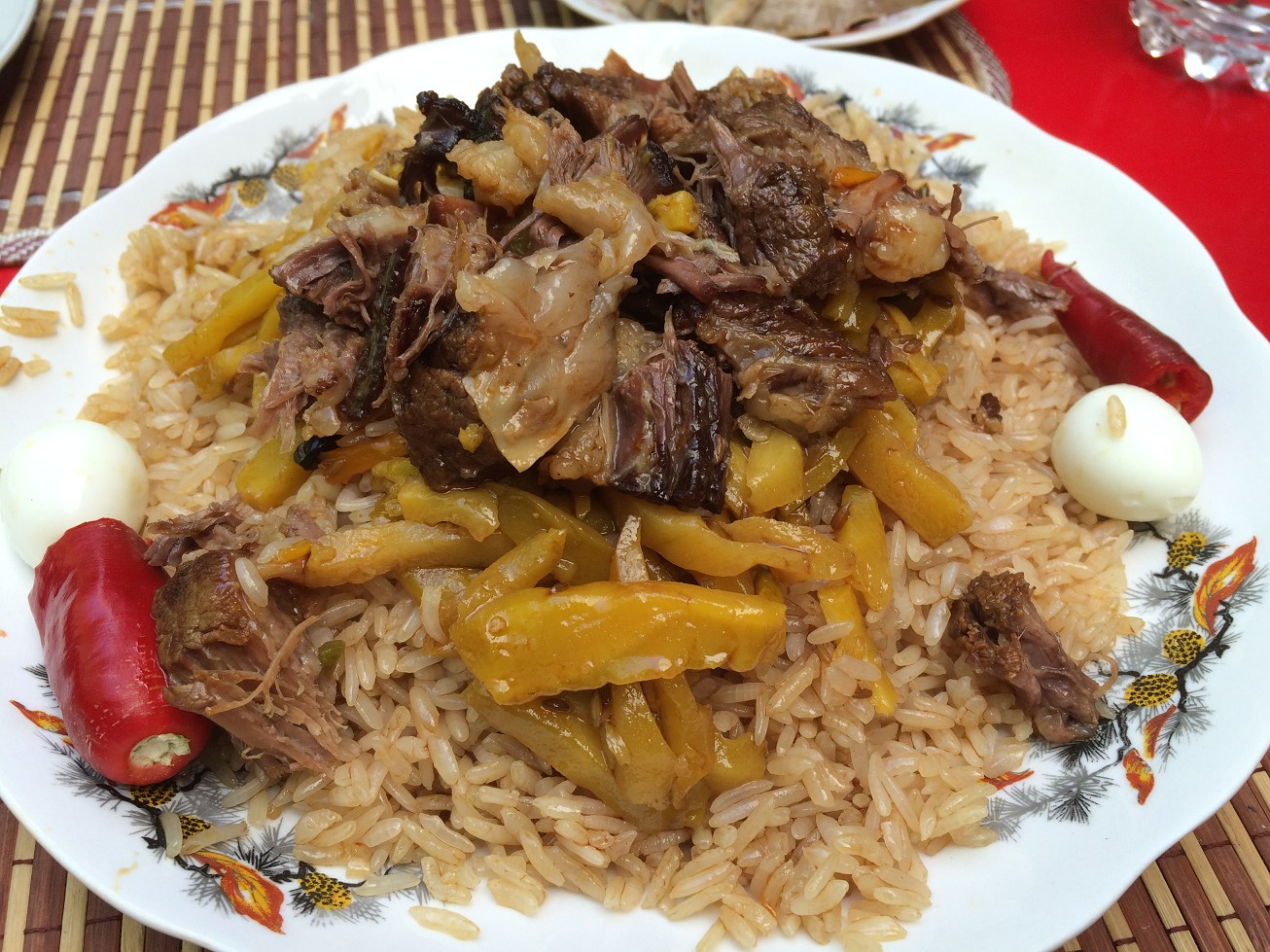 Look at the yummy plov, do you feel hungry?