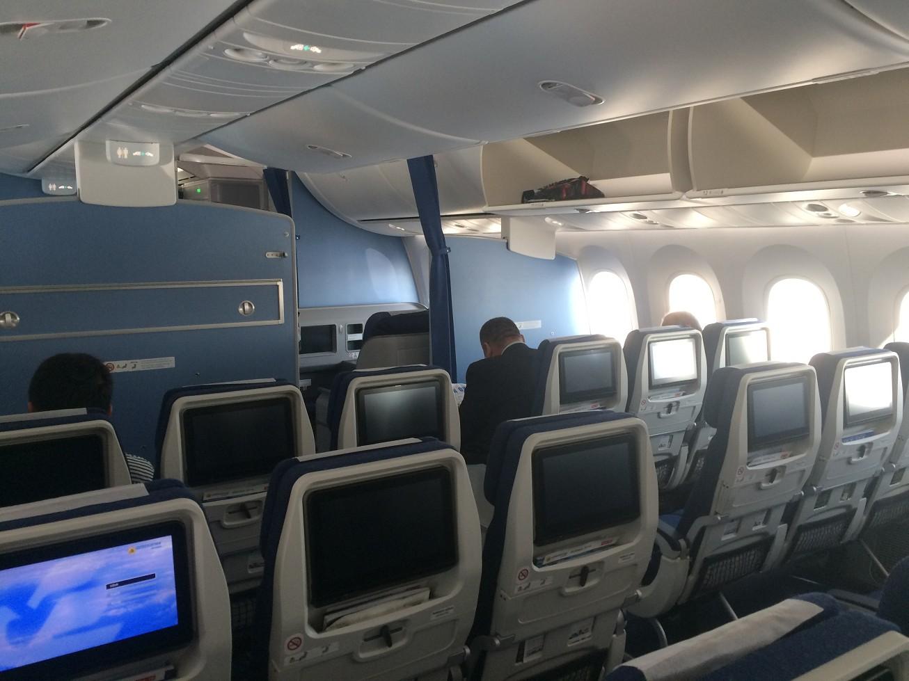 經濟艙均配有個人娛樂設備